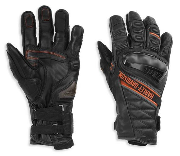 Harley-Davidson Men's Passage Adventure Gauntlet Gloves, Black 98182-21VM - Wisconsin Harley-Davidson