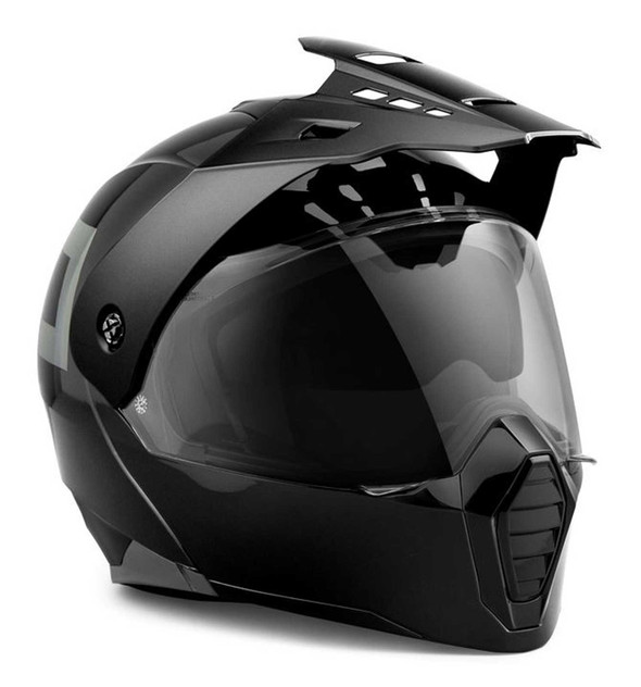 Harley-Davidson Unisex Grit Adventure J09 Modular Helmet, Black 98135-21VX - Wisconsin Harley-Davidson