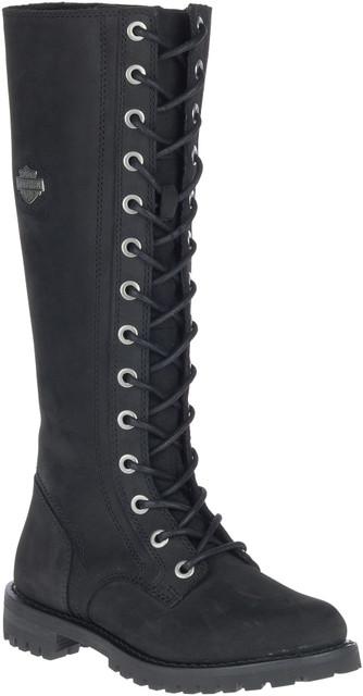 Harley-Davidson Women's Lornell 14-Inch Black Motorcycle Boots, D84685 - Wisconsin Harley-Davidson