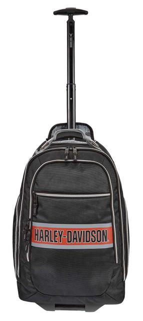 Harley-Davidson Trailblazer USB Charging Port Wheeling Backpack - Rust Vintage - Wisconsin Harley-Davidson