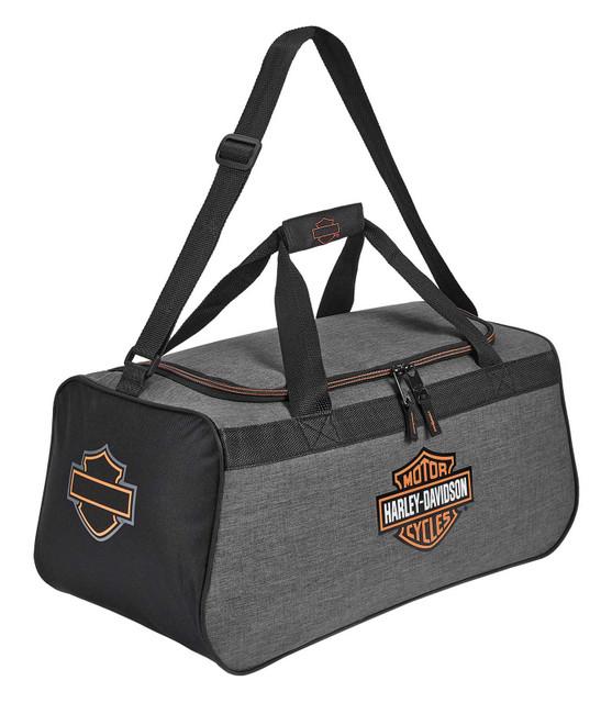 Harley-Davidson Bar & Shield Logo Duffel Bag w/ Adjustable Strap - Heather Gray - Wisconsin Harley-Davidson