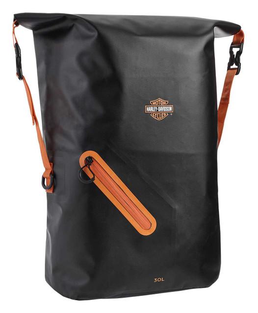 Harley-Davidson Bar & Shield Logo Waterproof Polyester Backpack - Rust/Black - Wisconsin Harley-Davidson
