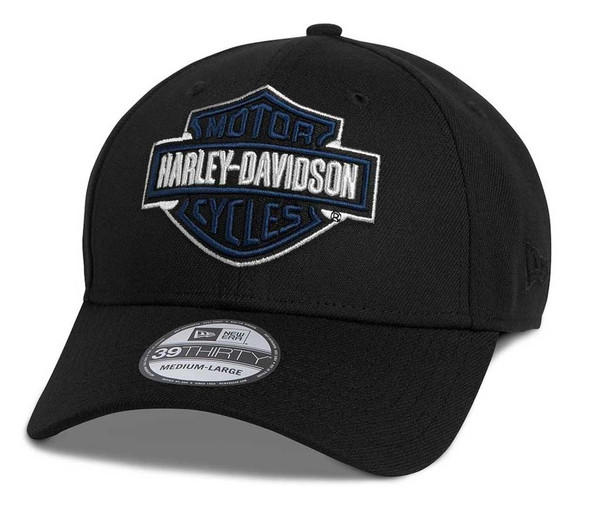 Harley-Davidson Men's Bar & Shield 39THIRTY Fitted Baseball Cap 97690-21VM - Wisconsin Harley-Davidson