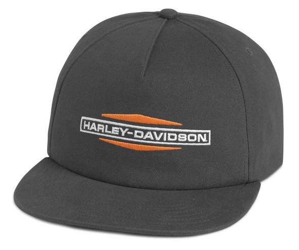 Harley-Davidson Men's Tank Logo Adjustable Baseball Cap, Gray 97685-21VM - Wisconsin Harley-Davidson