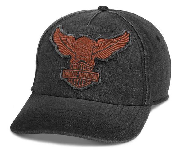 Harley-Davidson Men's Winged Eagle Baseball Cap - Washed Black 97689-21VM - Wisconsin Harley-Davidson