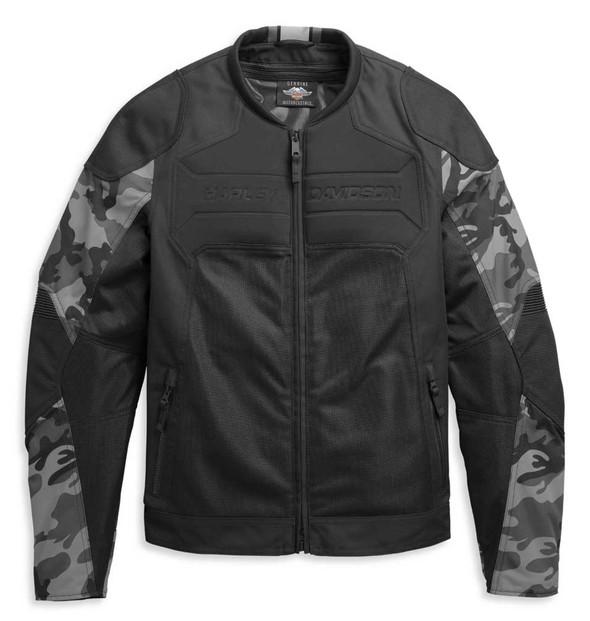 Harley-Davidson Men's Brawler Camo Functional Riding Jacket - Black 97111-21VM - Wisconsin Harley-Davidson