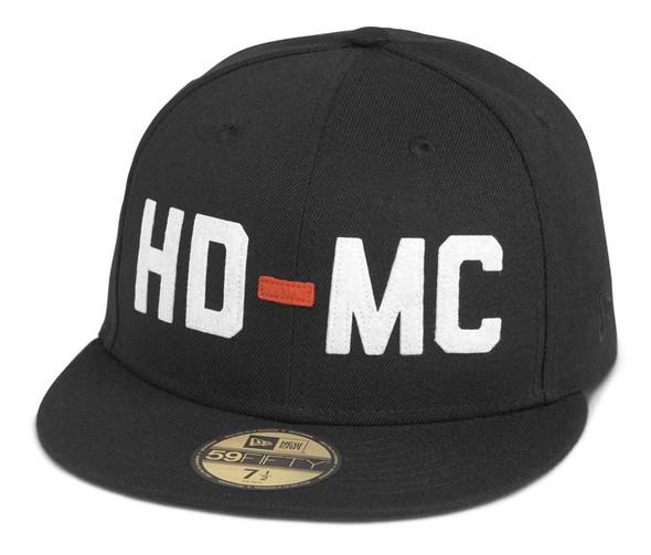 Harley-Davidson Men's Felt HD-MC 59FIFTY Baseball Cap - Black 97683-21VM - Wisconsin Harley-Davidson