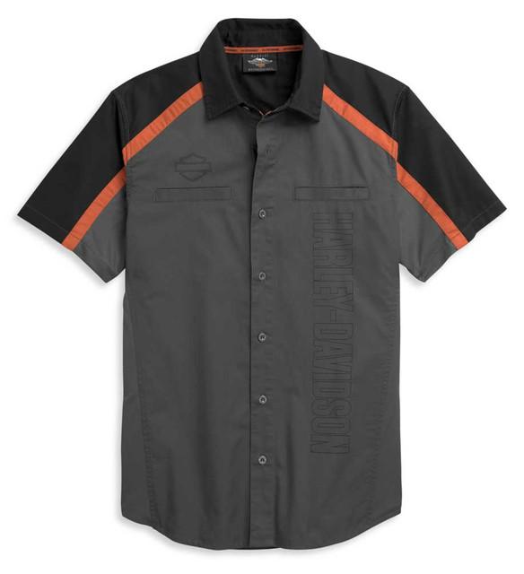 Harley-Davidson Men's Performance Colorblock Vertical Logo Shirt 96329-21VM - Wisconsin Harley-Davidson