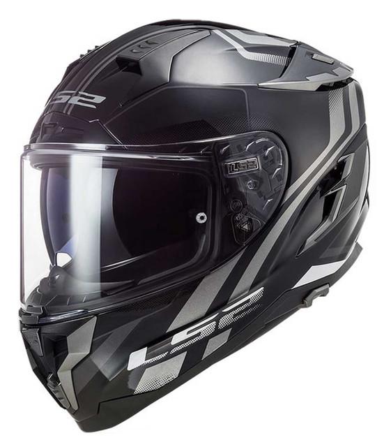 LS2 Helmets Challenger GT Propeller Full Face Motorcycle Helmet, Black/Titanium - Wisconsin Harley-Davidson