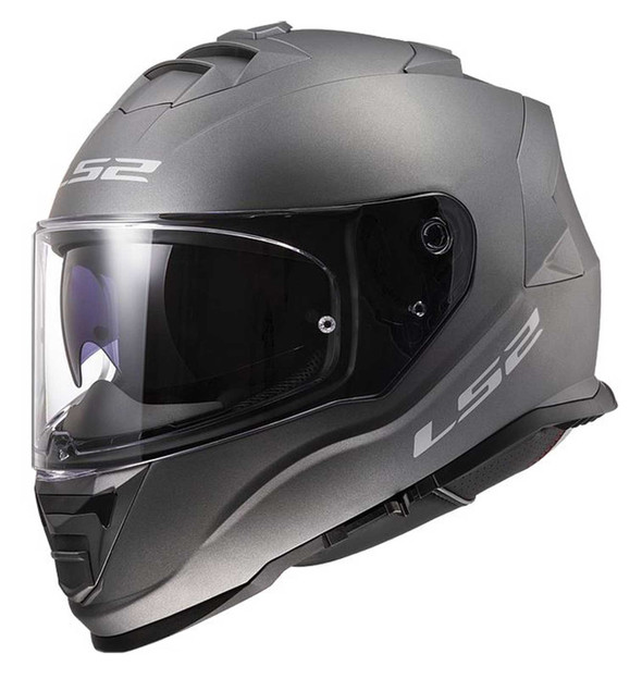 LS2 Helmets Assault Solid Full Face Sun Shield Motorcycle Helmet, Matte Titanium - Wisconsin Harley-Davidson
