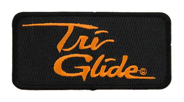 Harley-Davidson 4 in Embroidered Tri Glide Emblem Sew-On Patch - Black/Orange - Wisconsin Harley-Davidson