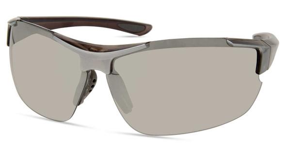 Harley-Davidson Men's Sport Wrap Sunglasses, Gray Frame/Smoke Mirror Lenses - Wisconsin Harley-Davidson
