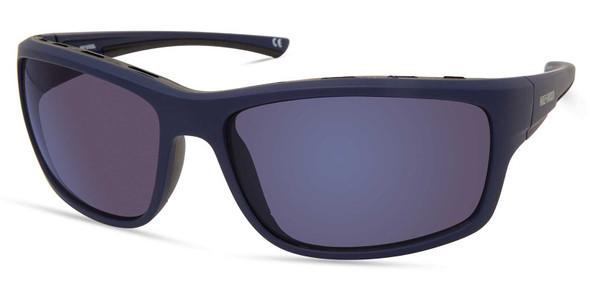 Harley-Davidson Men's Venting Wrap Sunglasses, Matte Blue Frame/Blue Mirror Lens - Wisconsin Harley-Davidson