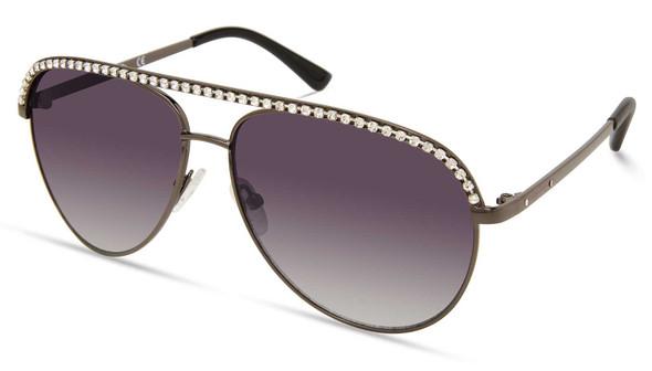 Harley-Davidson Women's Bling Aviator Sunglasses, Gunmetal Frame/Gradient Lenses - Wisconsin Harley-Davidson