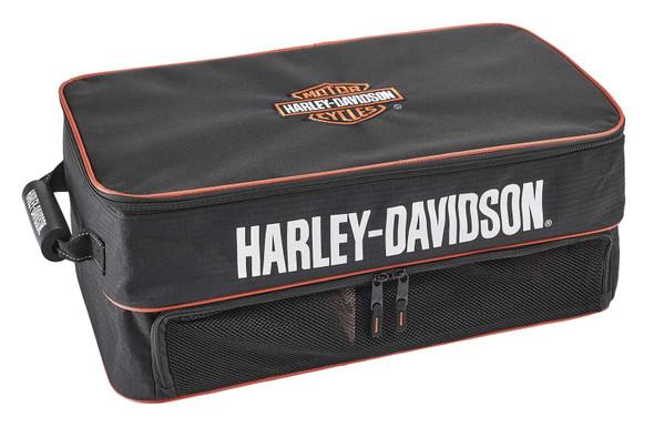 Harley-Davidson Bar & Shield Logo Trunk & Garage Organizer Bag - Black/Rust - Wisconsin Harley-Davidson