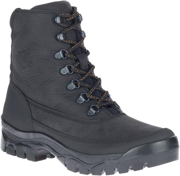 "Harley-Davidson Men's MacLeod Waterproof 5.5"" Black Motorcycle Boots, D93737 - Wisconsin Harley-Davidson"