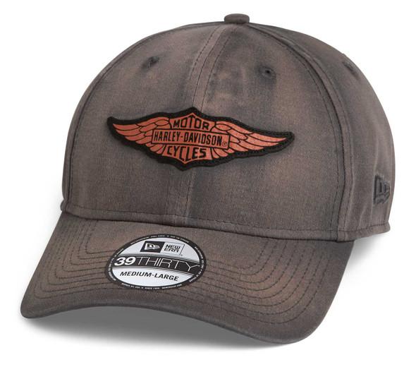 Harley-Davidson Men's Winged Logo 39THIRTY Washed Baseball Cap 97694-21VM - Wisconsin Harley-Davidson