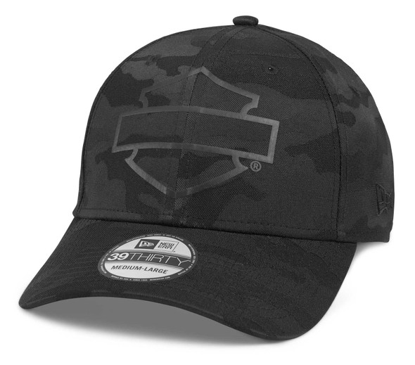 Harley-Davidson Men's Tonal Camo Bar & Shield 39THIRTY Baseball Cap 97693-21VM - Wisconsin Harley-Davidson
