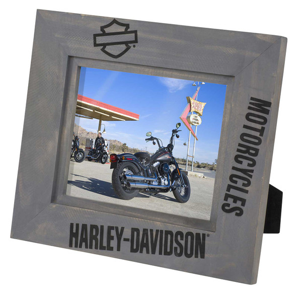 Harley-Davidson Motorcycle Graphics Solid Pine Wooden Picture Frame - 8 x 10 - Wisconsin Harley-Davidson