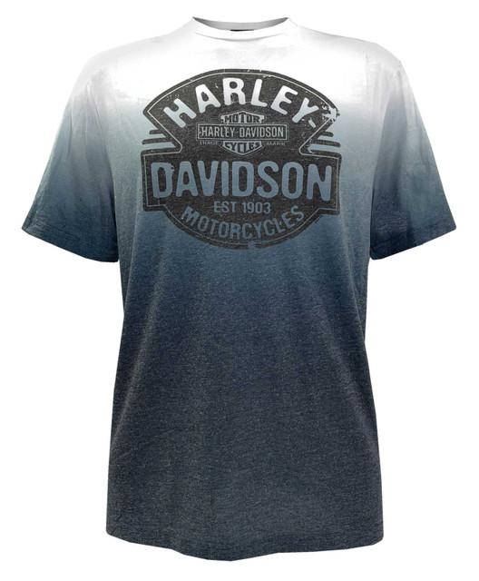 Harley-Davidson Men's Dusty Roads Crew-Neck Short Sleeve Ombre Graphic T-Shirt - Wisconsin Harley-Davidson