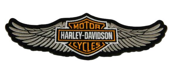 Harley-Davidson 8 in. Embroidered Winged Bar & Shield Logo Emblem Sew-On Patch - Wisconsin Harley-Davidson
