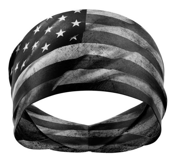 That's A Wrap Unisex Old Glory Versatile Multi-Function Do Band - Black/Gray - Wisconsin Harley-Davidson