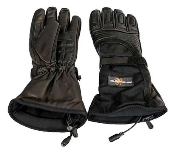 California Heat 12V Heated Wind & Water Proof Riding Gauntlet Gloves - Black - Wisconsin Harley-Davidson