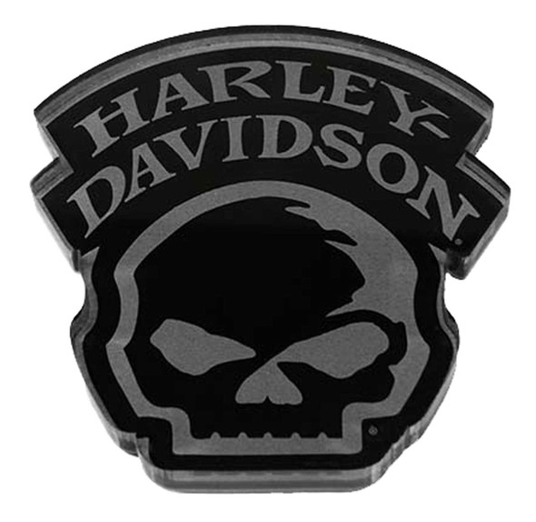 Harley-Davidson Cut-Out Willie G Skull Hard Acrylic Magnet - 3 x 2.75 inches - Wisconsin Harley-Davidson