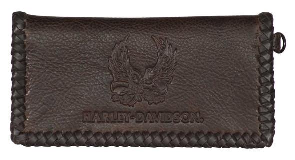 Harley-Davidson Men's Ride Free Trucker Leather Wallet w/RFID Protection - Brown - Wisconsin Harley-Davidson