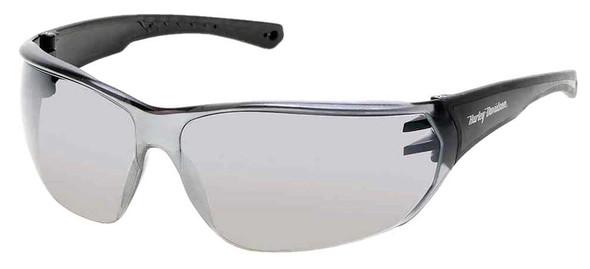 Harley-Davidson Men's Kickstart HD Sunglasses, Black Frames & Silver Mirror Lens - Wisconsin Harley-Davidson