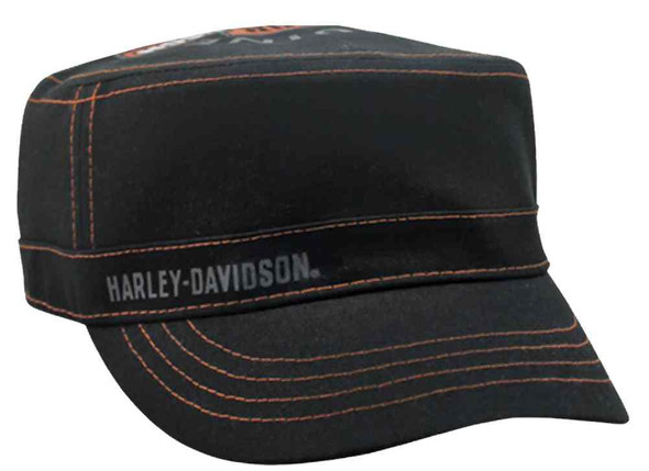 Harley-Davidson Women's Long Bar & Shield Logo Painter's Cap, Black PC31230 - Wisconsin Harley-Davidson