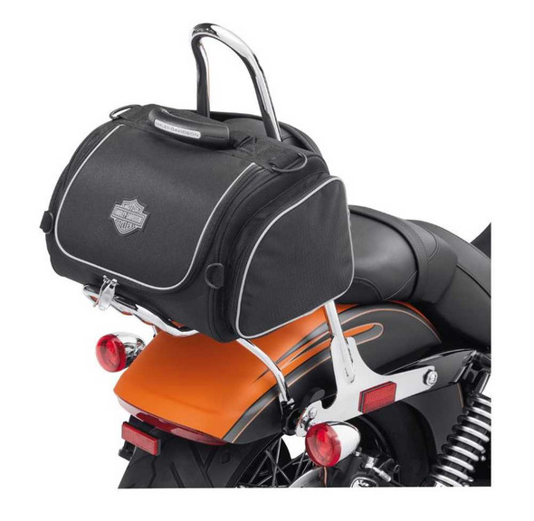 Harley-Davidson Bar & Shield Zippered Premium Touring Day Bag Black 93300017 - Wisconsin Harley-Davidson