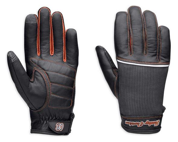 Harley-Davidson Women's Cora Leather & Mesh Full-Finger Gloves 98295-14VW - Wisconsin Harley-Davidson