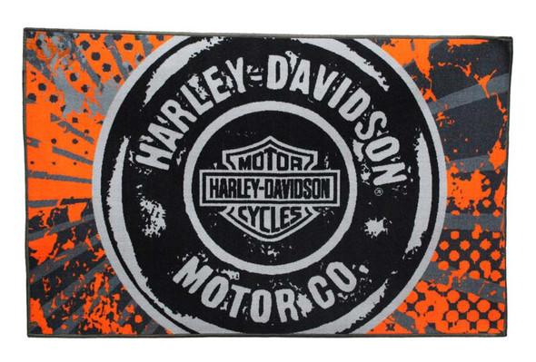 Harley-Davidson 39 x 59 Free Road Tufted Rug, Non Skid Backing NW168619 - Wisconsin Harley-Davidson
