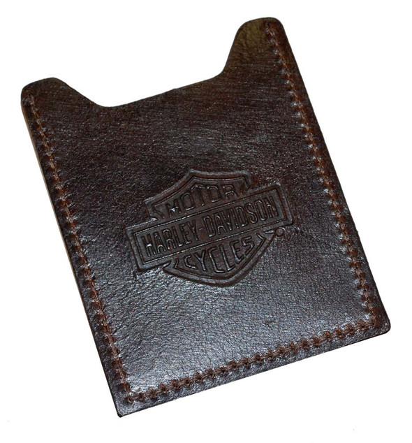 Harley-Davidson Men's Brown Leather Embossed Money Clip HD957-2C - Wisconsin Harley-Davidson