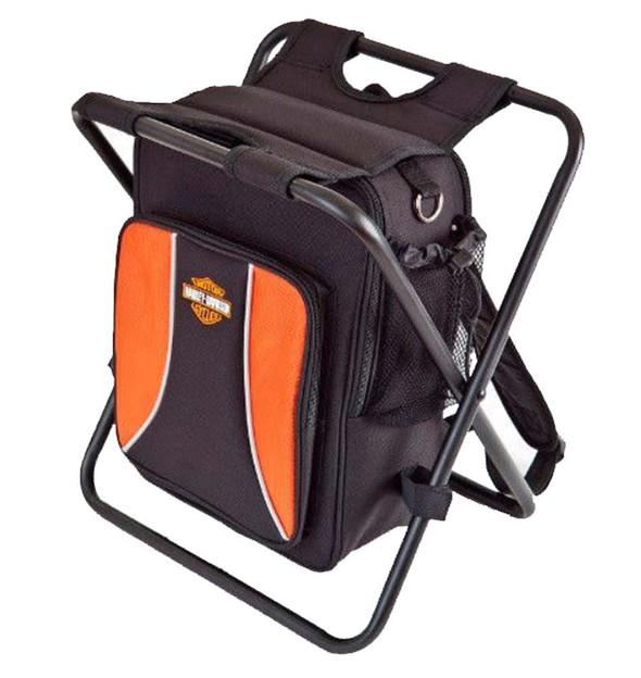 Harley-Davidson Backpack Cooler Seat Orange & Black 99304-BLK - Wisconsin Harley-Davidson