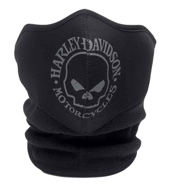Harley-Davidson Men's Skull Fleece/Neoprene Face Cover Black/Grey. 99406-16VM - Wisconsin Harley-Davidson