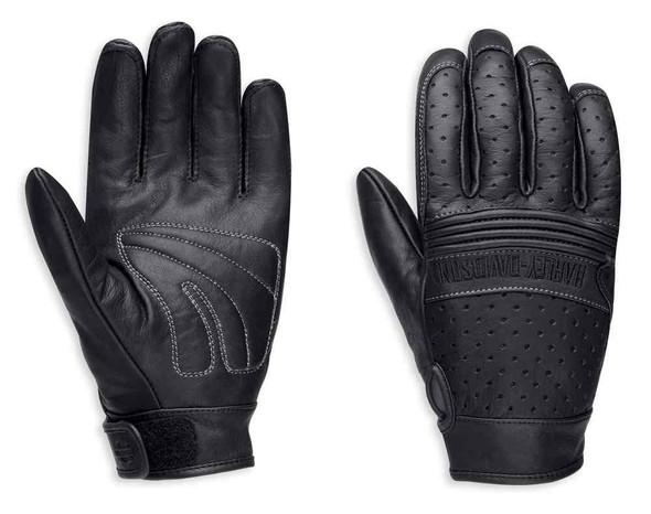 Harley-Davidson Men's Avalon Perforated Leather Full-Finger Gloves 98207-16VM - Wisconsin Harley-Davidson