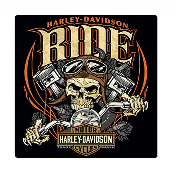 Harley-Davidson Tin Sign, Ride Bone Bar & Shield Sign, Black 2010961 - Wisconsin Harley-Davidson