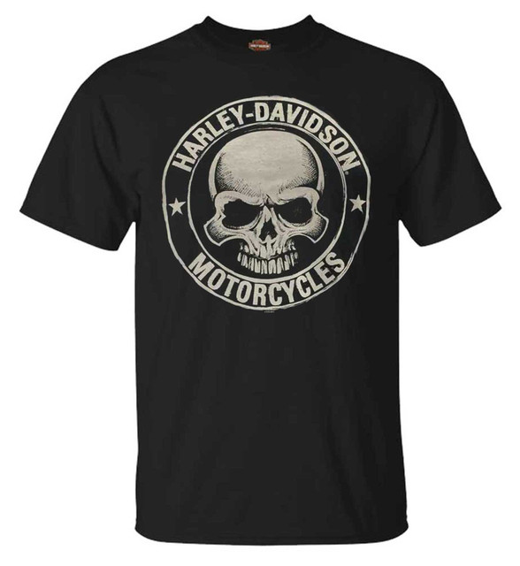 Harley-Davidson Men's H-D Skull Badge Short Sleeve T-Shirt Black. 30298293 - Wisconsin Harley-Davidson