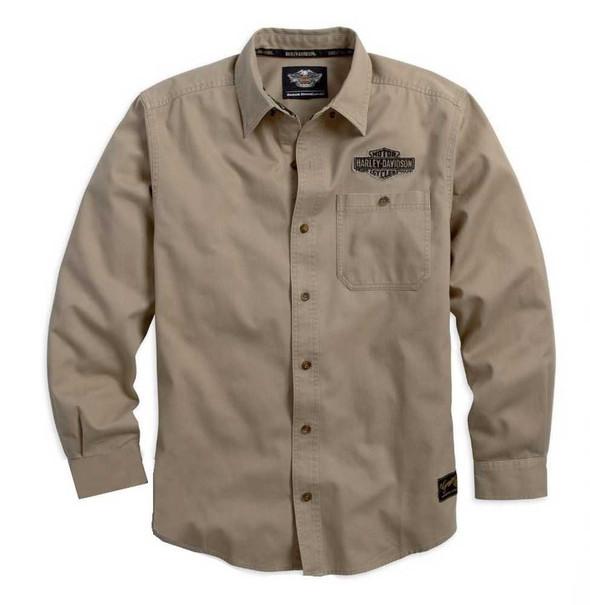 Harley-Davidson Men's Genuine Classics Long Sleeve Shirt 99097-14VM - Wisconsin Harley-Davidson