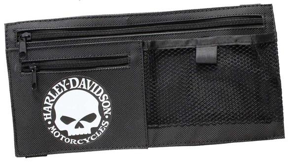 Harley-Davidson Willie G Skull Car Visor Organizer Adjustable Closure Black 6198 - Wisconsin Harley-Davidson