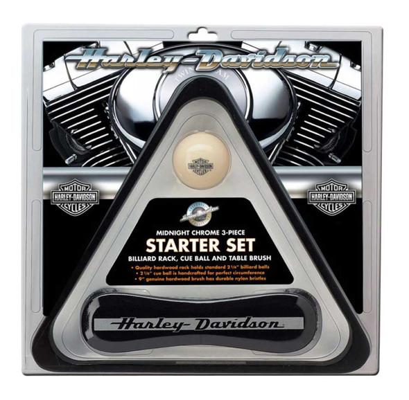 Harley-Davidson Pool Table Starter Set: Rack, Cue & Table Brush HDL-10147 - Wisconsin Harley-Davidson
