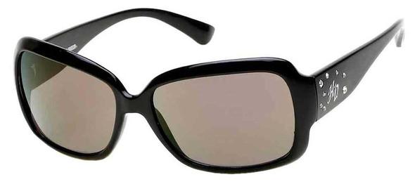 Harley-Davidson Women's Crystal HD Sunglasses, Black Frames & Smoke Lens - Wisconsin Harley-Davidson