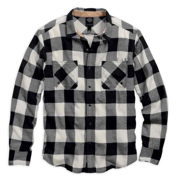 Harley-Davidson Men's Black Label Core Buffalo Check Woven Shirt 99058-16VM - Wisconsin Harley-Davidson