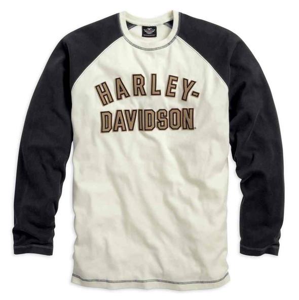 Harley-Davidson Men's Genuine Classics Long Sleeve Tee Off White 99099-14VM - Wisconsin Harley-Davidson