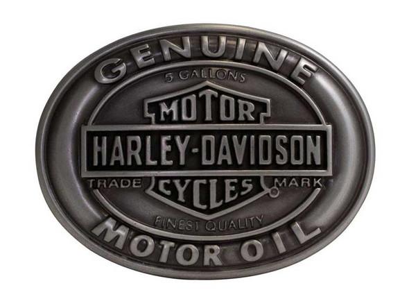 Harley-Davidson Men's Belt Buckle Genuine Motor Oil Bar & Shield HDMBU10662 - Wisconsin Harley-Davidson