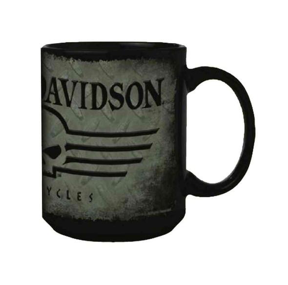 Harley-Davidson Coffee Mug, Willie G Skull 15 oz. Gray & Black Mug HD-HD-924 - Wisconsin Harley-Davidson
