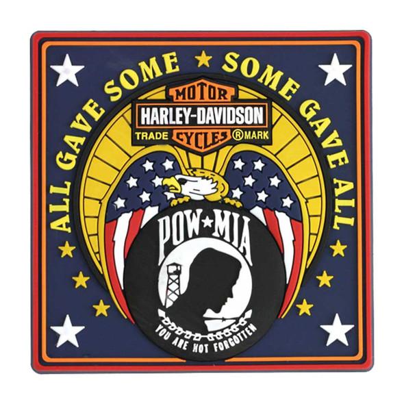 Harley-Davidson Magnet, POW-MIA Bar & Shield Rubber Tile Magnet 8003227 - Wisconsin Harley-Davidson