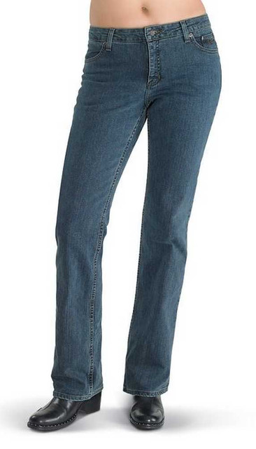 Harley-Davidson Womens Stretch Fit Boot Cut Med Blue Jeans Mid-Rise 99113-11VW - Wisconsin Harley-Davidson